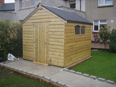 Shiplap shed with onduline roofing